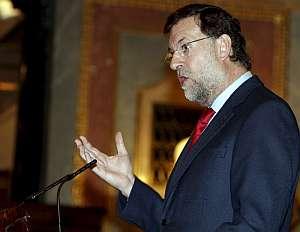 Mariano Rajoy, durante su intervención en el pleno del Congreso. (Foto: EFE)