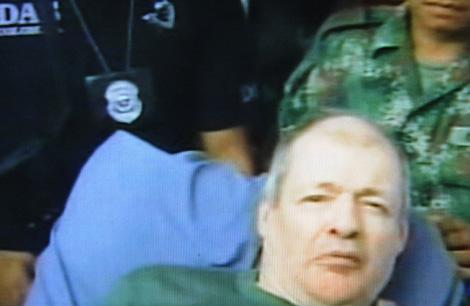 Roland Larsson, en el momento de la liberación. | Afp