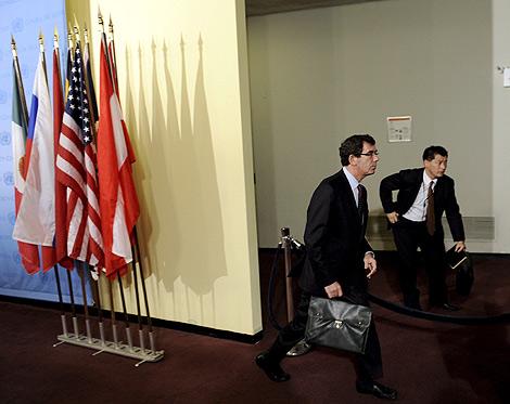 El embajador de Francia ante la ONU acude a la reunión del Consejo. | Efe