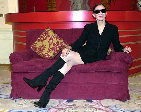 La artista, en 2002, cuando presentó en Madrid 'Sesenta años no es nada'. | J. Martínez