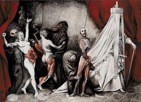 Santiago Caruso ilustra esta reedición de la obra sobre Erzébet Báthory. | Efe