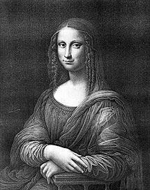 'La hermosa Gioconda', litografía anónima perteneciente al Museo del Prado. | Efe