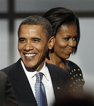El matrimonio Obama, en la fiesta latina. | Ap