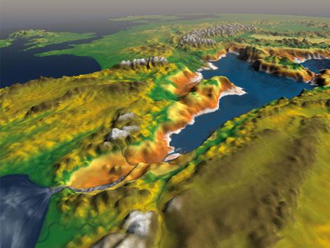 Recreación de la entrada de agua por el estrecho de Gibraltar. | Roger Pibernat