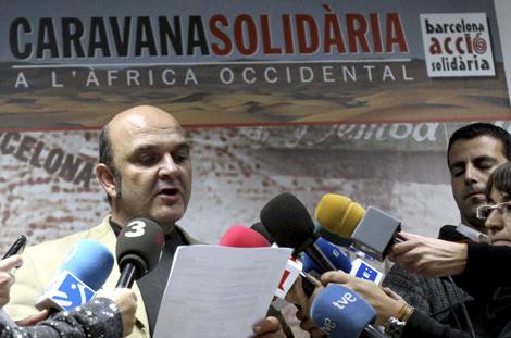 El portavoz de la ONG Barcelona Acció Solidaria, Xavier Altozano. | Efe