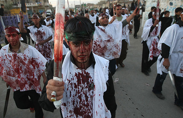Celebracin del Ashura en Sadr City (Irak). | Afp