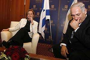 Netanyahu y Livni, rivales irreconciliables?