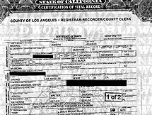 El certificado de defunción de Jackson. | 'News of the world'