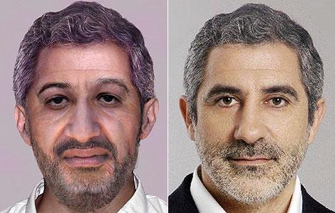 'Bin Laden' and Llamazares photos