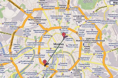 Situación de las dos estaciones donde han ocurrido los atentados.