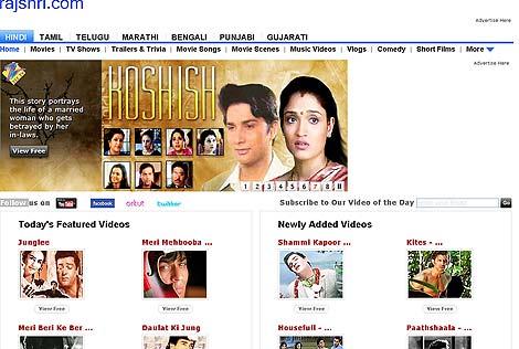 Una página web que vende películas de Bollywood usando la  tecnología P2P