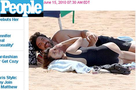 La revista 'People' publica esta imagen de la pareja.
