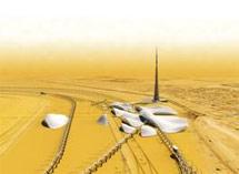 A la izquierda, la plataforma que se montará sobre el monorraíl. Elmundo.es