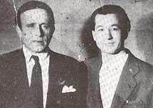 Con Juanito Valderrama