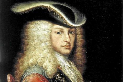 Detalle de uno de los retratos cortesanos de Felipe V.