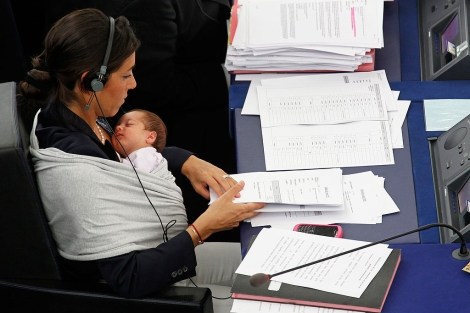 Licia Ronzulli, durante la votacin en el pleno. | Reuters