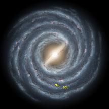 Dibujo de la Vía Láctea | NASA/JPL-Caltech/R. Hurt (SSC)
