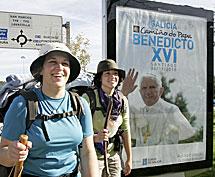 Peregrinos en Santiado. | Efe