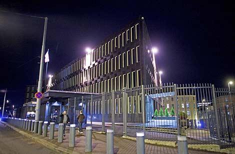 Exterior de la embajada de EEUU en Oslo. | Afp