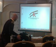 El logo, en la presentación del IESA.