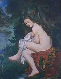 'La ninfa sorprendida', Edouard Manet. | Museo Nacional Bellas Artes de Argentina