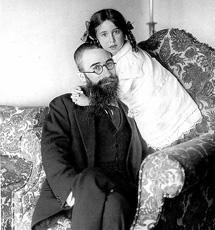 Valle con su hija, en 1915.| Salazar