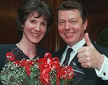 Johnson con su mujer. | Daily Mail
