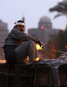 Un manifestante herido. | AFP