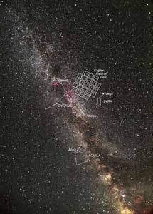 Región celeste observada por el Kepler. | NASA, C. Roberts