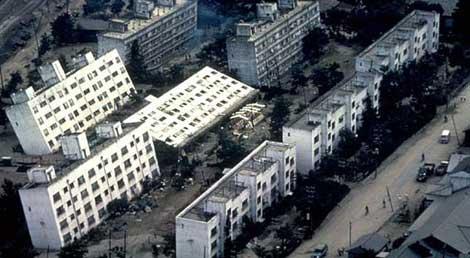 La primera vez que se observó la licuefacción fue en Niigata en 1964.
