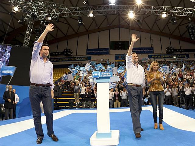 Mariano Rajoy en las Palmas. | Ángel Medina