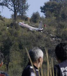 Imagen del lugar del accidente. | AP