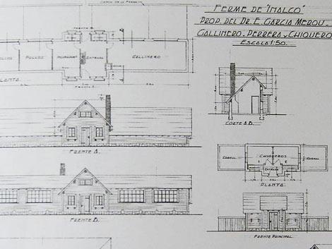 Los planos de la casa, del arquitecto Fernando Bustillo   Mariana Muriel Fernández / Perfil.com