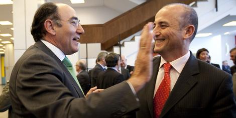 Ignacio Sánchez, Galán, presidente de Iberdrola, y el Ministro de Industria, Miguel Sebastián. | Alberto di Lolli