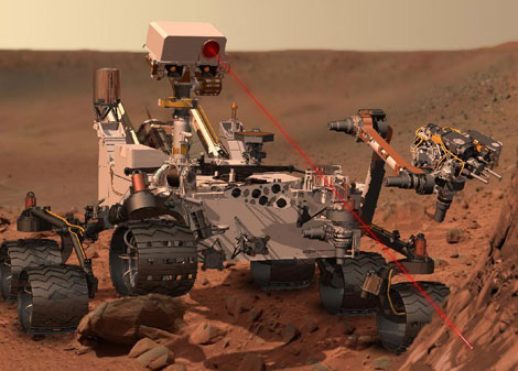 Recreaci�n art�stica del 'rover' 'Curiosity sobre la superficie marciana. | NASA