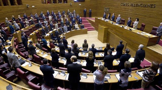 Imagen de las Cortes Valencianas durante un pleno de la semana pasada. | Benito Pajares