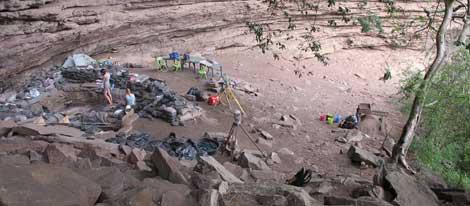 Yaciemiento de Sibudi, en Sudáfrica, durante la última campaña de excacavaciones. | 'Science'