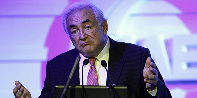 Dominique Strauss-Kahn, durante su intervención en Pekín. | Reuters