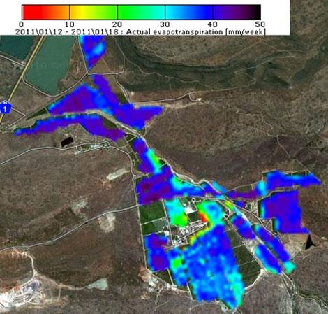 El mapa ofrece información sobre el estado del suelo. | ESA