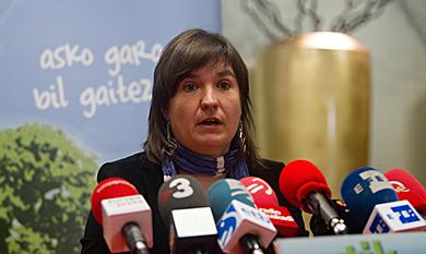 La portavoz de la izquierda abertzale, Maribi Ugarteburu. | Mitxi