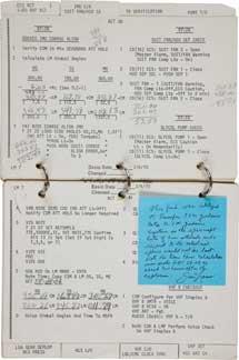 Página del manual del 'Apollo 13' que desató la polémica. | H,A.