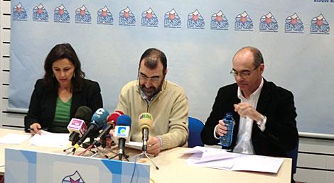 Rueda de prensa del BNG, con Ana Miranda y Francisco Jorquera. | R. S.