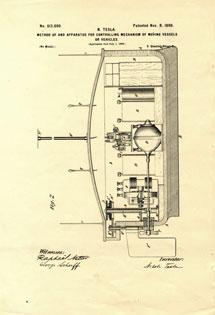 Patente del control remoto. | Foto: Museo Tesla de Belgrado
