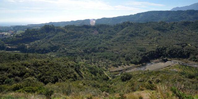 Panorámica de unos terrenos que el Lybian Foreign Bank de Gadafi posee en España.