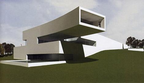 Boceto de la vivienda de Cristiano Ronaldo en Lisboa realizado por el arquitecto en 2011. | E. M.
