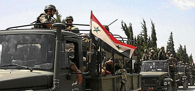 Vehículos militares a la ciudad de Jisr al-Shughour. | Ap