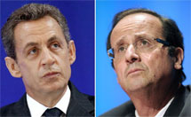 Sarkozy y Hollande. | AFP
