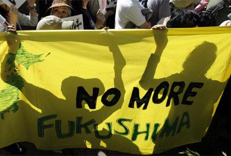 Los japoneses han salido a la calle hoy para pedir el fin de las centrales nucleares. | Efe