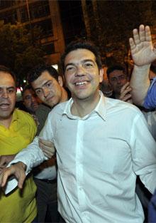 Tsipras, líder de la izquierda radical.