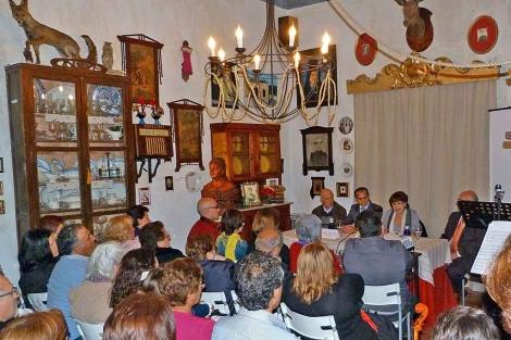 La presentación de los actos en homenaje a Patrocinio de Biedma en Begíjar. | M. Cuevas